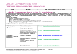 programme de management des organisations