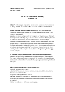 projet en conception (design) proposition