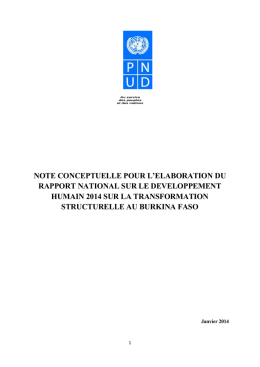 Termes de réferences - UNDP | Procurement Notices