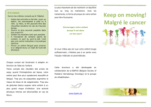 Keep on moving! Malgré le cancer