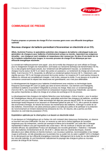 Communiqué de presse - Fronius International