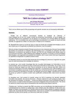 """Will the Lisbon-strategy fail?"" with Philippe"