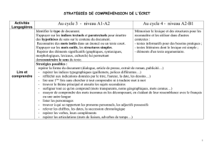 COMPREHENSION DE L`ORAL