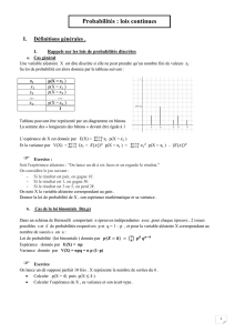 (X) = 1 - Maths au lycée Mezeray
