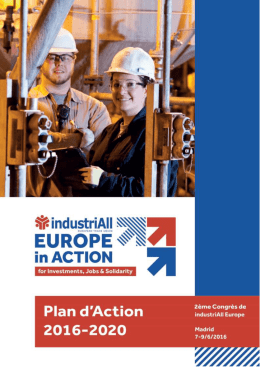 Plan d`action 2016-2020 d`industriAll European Trade Union