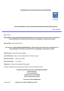 terme de references - UNDP | Procurement Notices