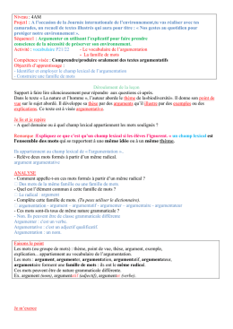 Vocabulaire P1 S1 4AM_2013_2014