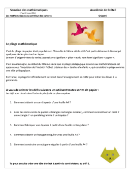 Origami - Culture Scientifique 77