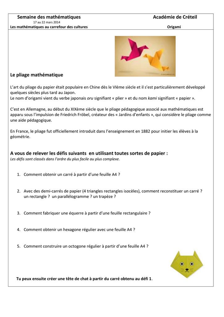 Origami Culture Scientifique 77