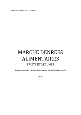 MARCHE DENREES ALIMENTAIRES