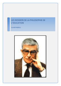Olivier REBOUL - Philosophie de l`Education