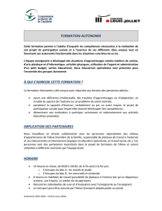 formation autonomie - Centre Louis