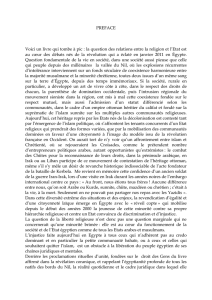 PREFACE Voici un livre qui tombe à pic : la question des relations