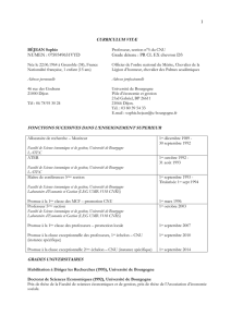 curriculum vitæ - LEDI - Université de Bourgogne