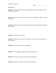 Sciences de la nature 8 Nom : Exercices 2.2 Question 1. Quelles