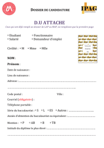 Dossier de candidature Attaché
