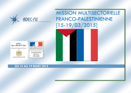 MISSION MULTISECTORIELLE Franco-Palestinienne [15 - Adec-ns