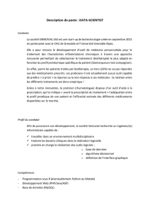 Description de poste : DATA-SCIENTIST