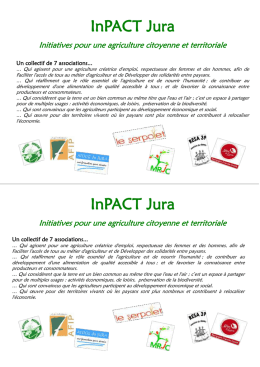 InPACT Jura Initiatives pour une agriculture citoyenne