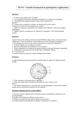 TD N°4 : controle hormonal de la gamétogénèse (applicatio)