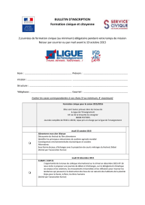 BULLETIN D`INSCRIPTION Formation civique et citoyenne