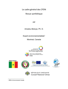 Bilbliographie ateliers Afrique - Global Climate Change Alliance