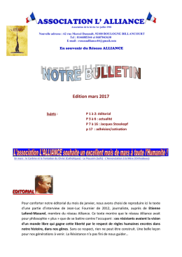 Bulletin mars 2017 - Association L` Alliance - E