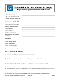 Description du projet – Dynamisation de la performance