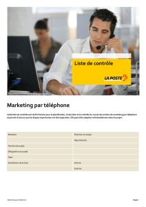 Marketing par téléphone