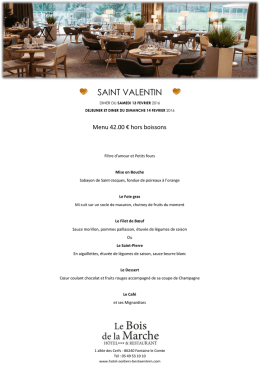 menu saint valentin 2016