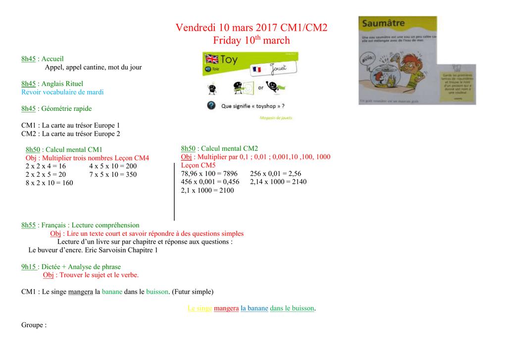 Carte Au Tresor Geometrie.Vendredi 10 Mars 2017 Ecole Primaire Le Chat De Fouqueville