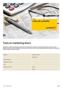 Tests en marketing direct