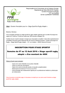Le Dossier d`Inscription