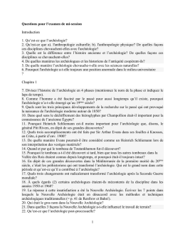 Questions pour l`examen de mi-session Introduction 1. Qu`est