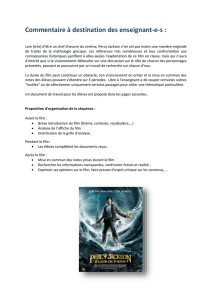 document Percy Jackson et le voleur de foudre  - ICT-VS