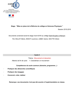 Le document au format Word