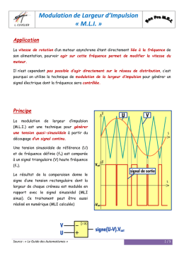 Modulation de Largeur d`Impulsion « MLI