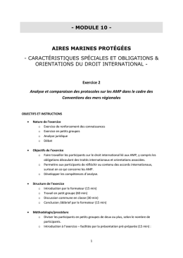 Exercice 10.2 : Consignes (fr) - Protected Areas Law Capacity