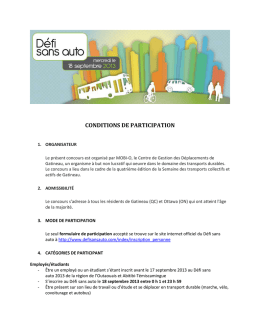 conditions de participation