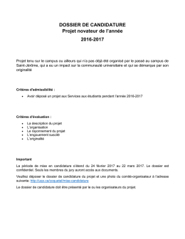 section 2 – description du projet