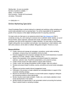 Online Marketing Specialist - CMP Advanced Mechanical Solutions
