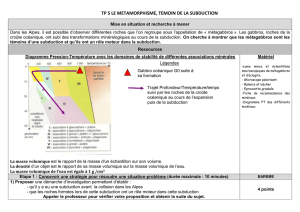 tp 5 le metamorphisme, temoin de la subduction