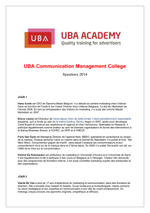 UBA Communication Management College Speakers 2014