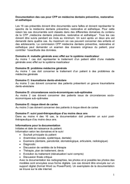 Documentation des cas CFP SSPRE (Document Word, Français