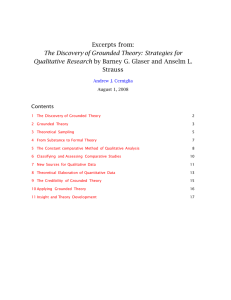 The Discovery of Grounded Theory: Strategies for Qualitative