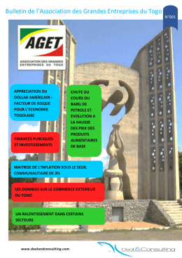 Bulletin N°1 - Deal and Consulting