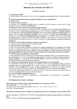 Eléments de correction de l`ECC n°1