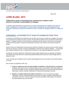 Livre blanc - Association Pharmaceutique Luxembourgeoise