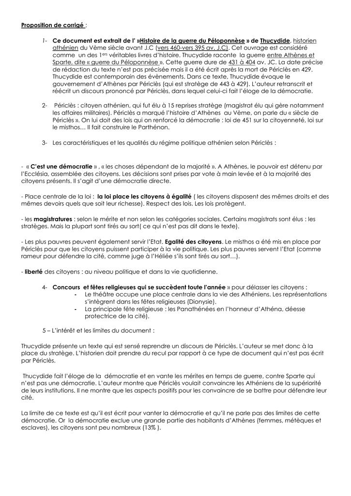 cfd6ffbe44a Proposition de corrigé   Ce document est extrait de l` »Histoire de la