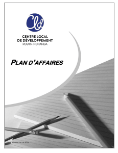 plan d`affaires - CLD Rouyn